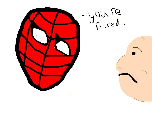Spiderman Fires Man