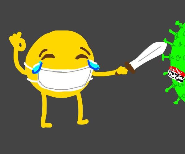 emoji is prepared to deal with corona virus