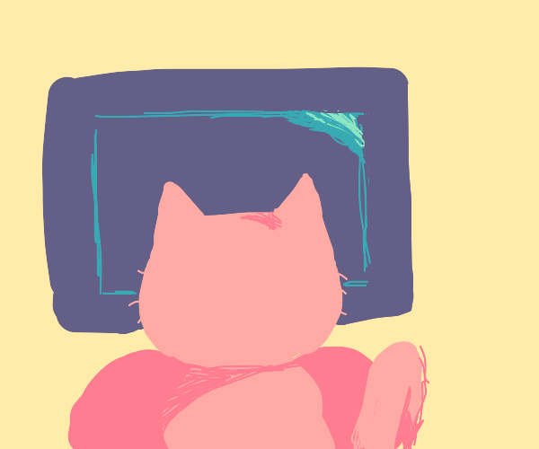 Watching tv with a cat on your lap