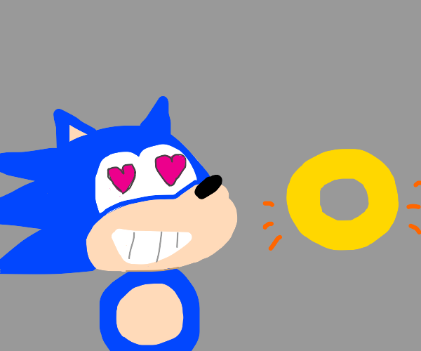 Sonic finally found his true love. A ring!