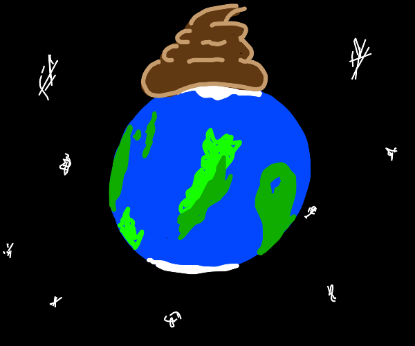 Poop on a planet