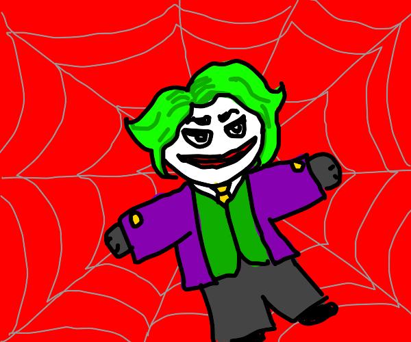 Joker in spider web