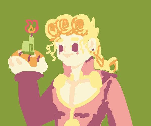 Girl holds potato GlaDOS