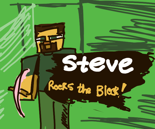 Steve: rocks the block!