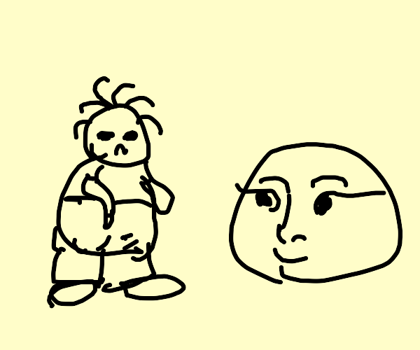 Unattractive Man Meets Beautiful Blob