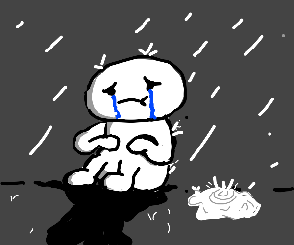 theodd1out crying in the rain