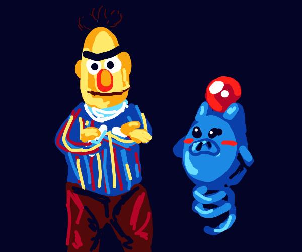 Bert from sesame street has a Spoink(pokemon)