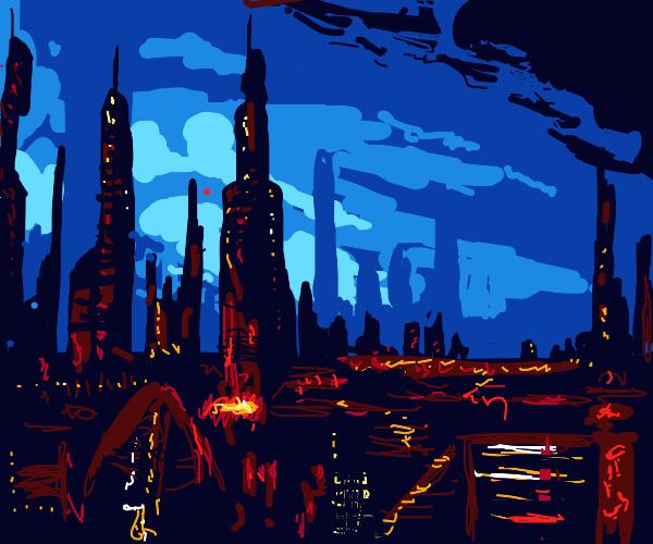 Distopian Cityscape