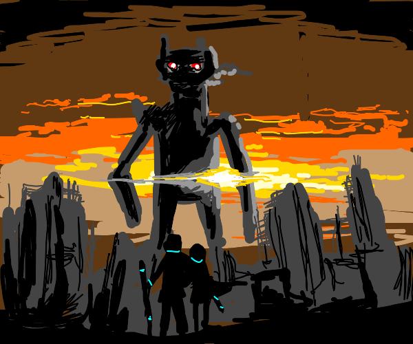 Giant Robot Attacks City!
