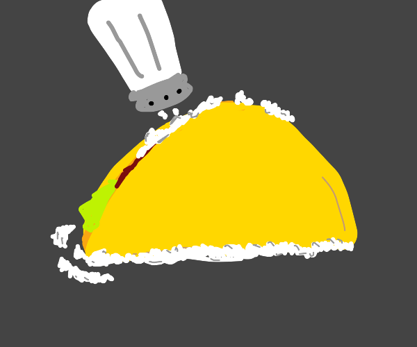 Too much salt on a taco