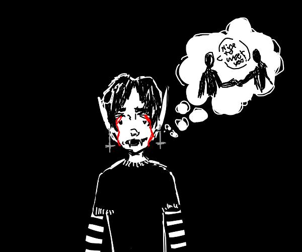 e-boy dracula contemplates his life choices