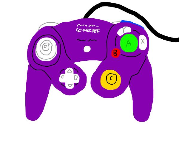 Purple GameCube controller