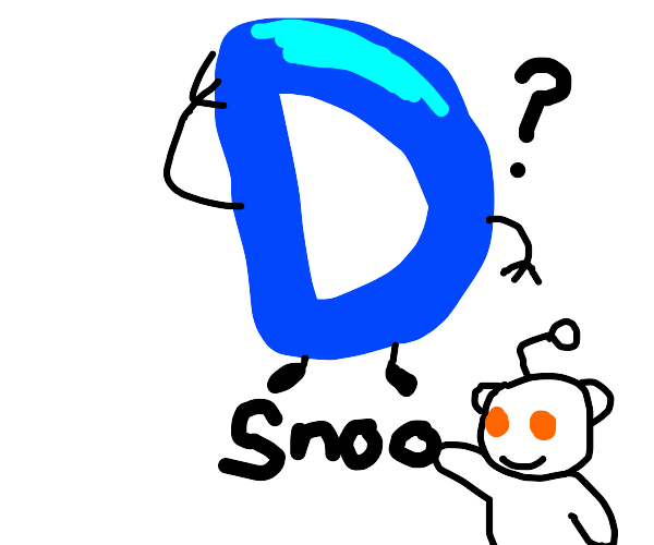drawception but with the word snoo under it