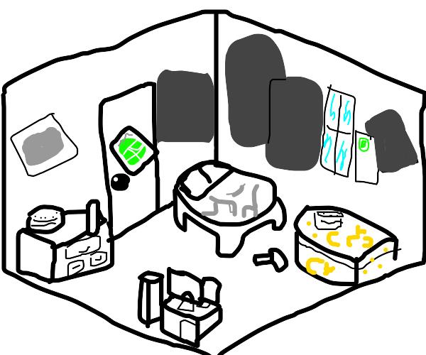 Home stuck bedroom