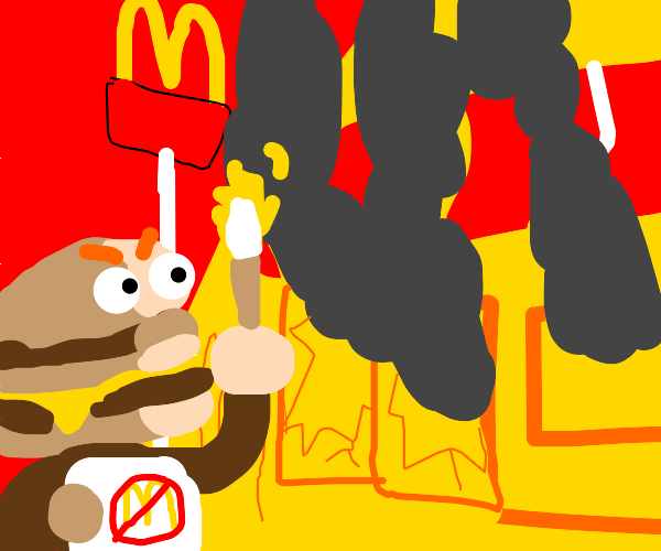 Hamburger commits arson