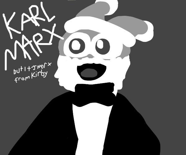 Karl Marx but it's Marx from Kirby