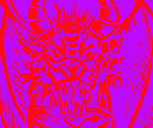 Purple Background Dragon