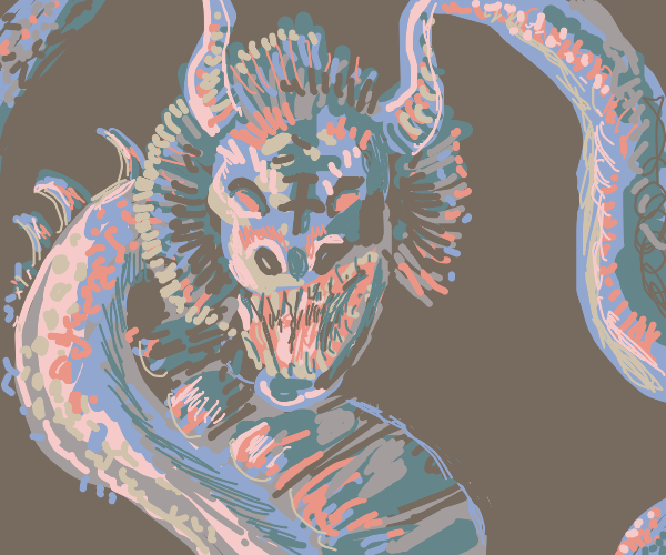 Wyrm with a fearsome mane & horns