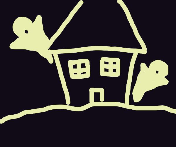 oOOOooo spooky ghost house