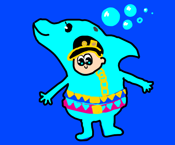 jotaro's dolphin fursuit