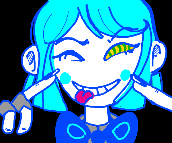 A blue lollipop girl