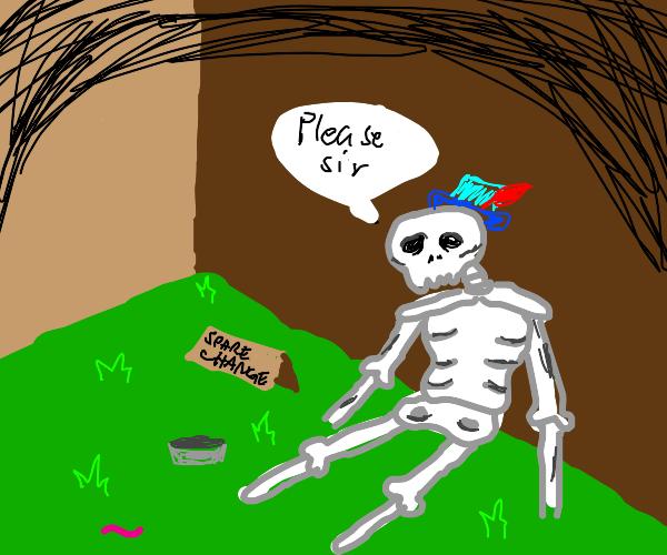 Homeless Skeleton