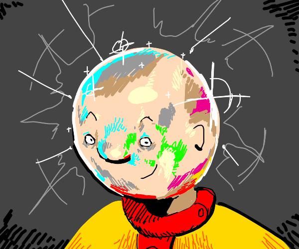 The shiny head of Caillou