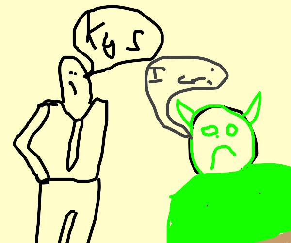 Shrek is told to Kill himself by the FBI