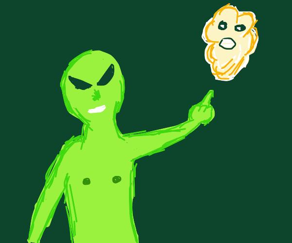 Alien Curses A Grey Raisin