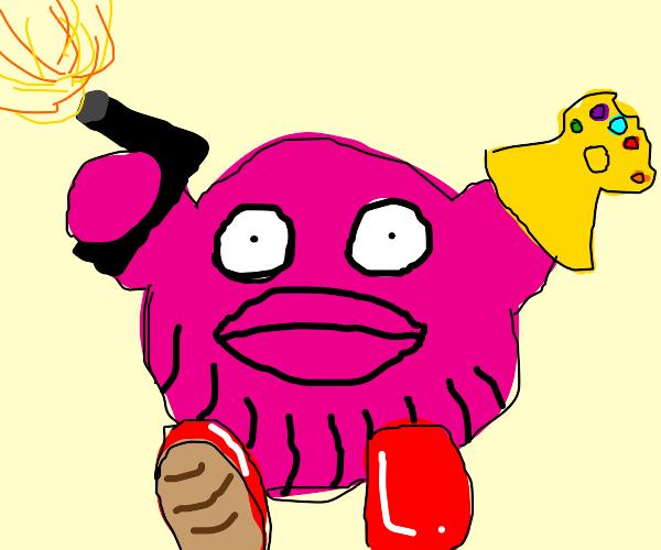 Kirby with a gun.