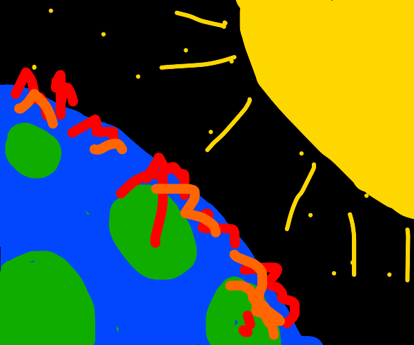 Earth gives up against Mighty Sun