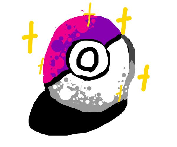 The purple Pokemon ball