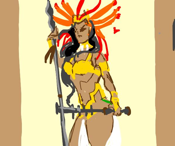 Angry Aztec queen