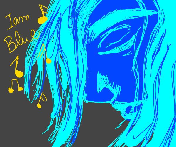 Blue girl sings the I'm blue song