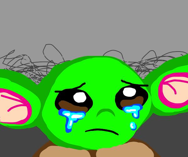 Crying baby yoda