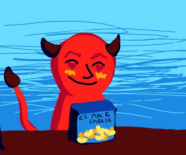 Devil loves easy mac n cheese