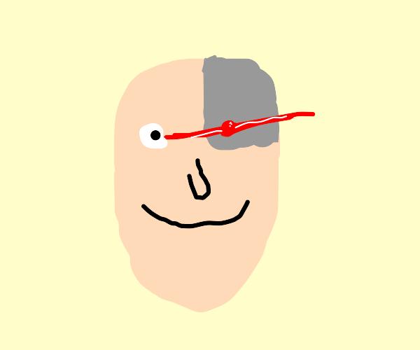 Guy with robot eye