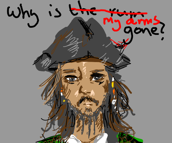 Jack Sparrow without arms