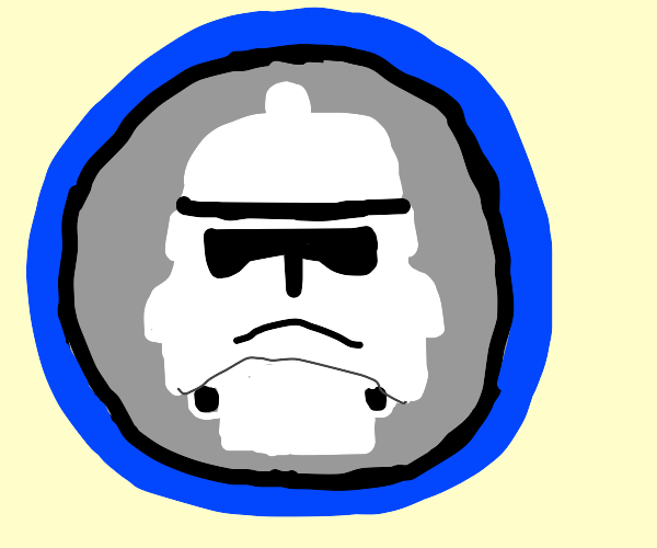 Profile of a stormtrooper.