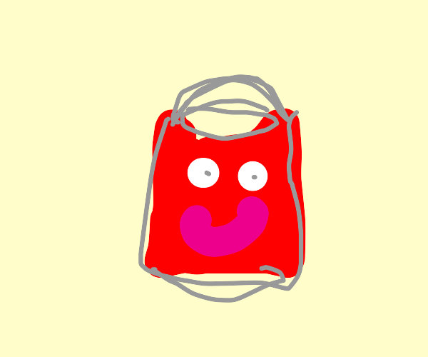 Happy red bucket