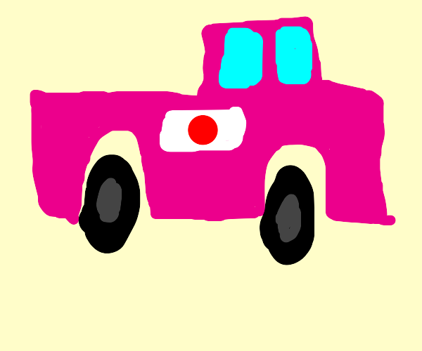Cool pink japanese truck