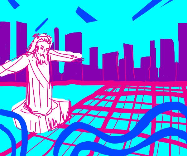 vapor wave Jesus