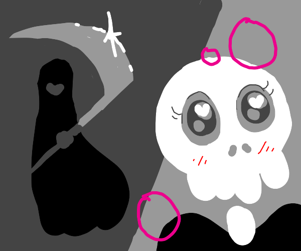 grim reaper turns out to be an anime girl