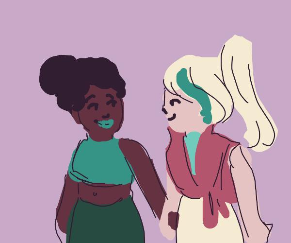 A lesbian couple :D
