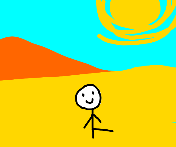 happy in the desert