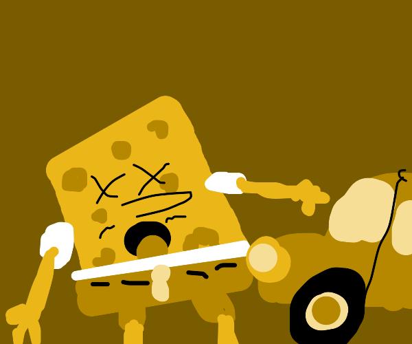 Spongebob didn't look both ways