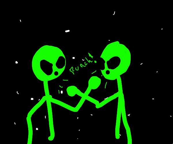 Alien fight