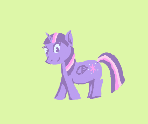 Twilight (purple one) from my little pony