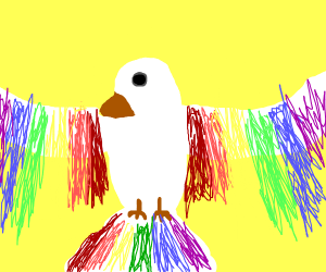 This gay bird is out and proud