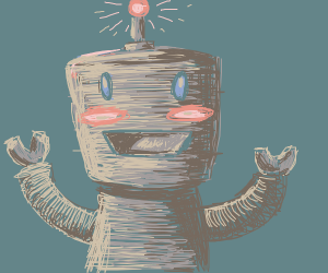 robot boy happy